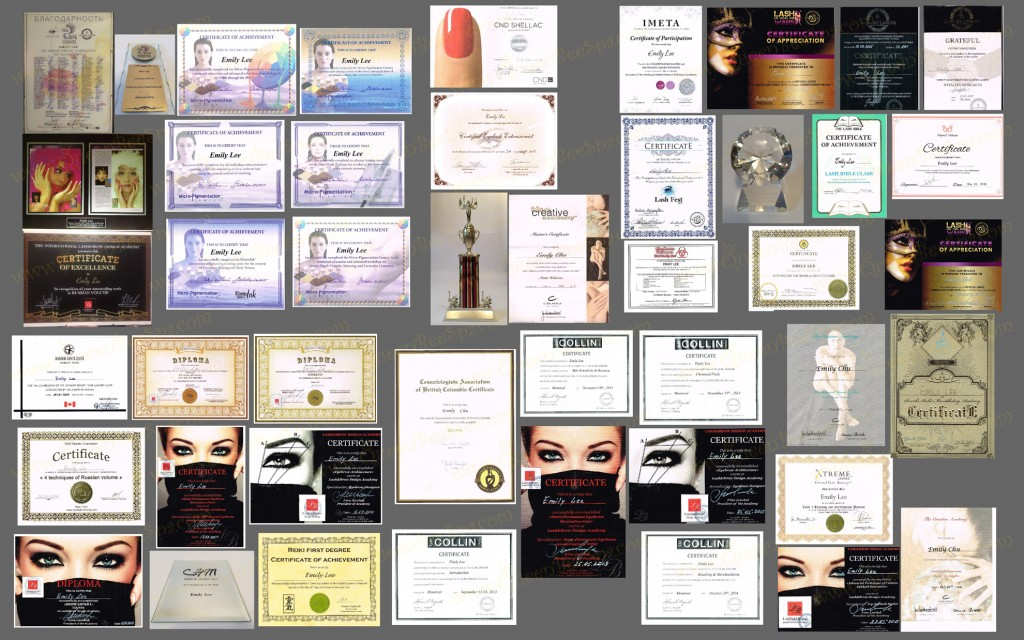 Certificates - Wall Compilation